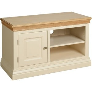 Lundy Painted Oak Furniture 1 Door TV Unit