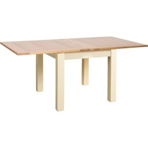 Lundy Painted Oak Furniture 3 x 3 Flip Top Dining Table