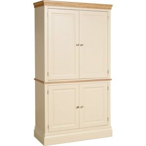 Lundy Painted Oak Furniture Double Kitchen Larder Cupboard