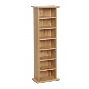 Devonshire New Oak Furniture CD & DVD Rack