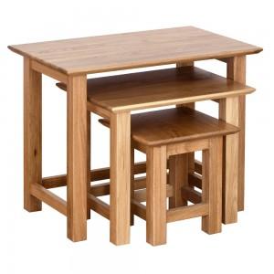 Devonshire New Oak Furniture Small Nest of Tables