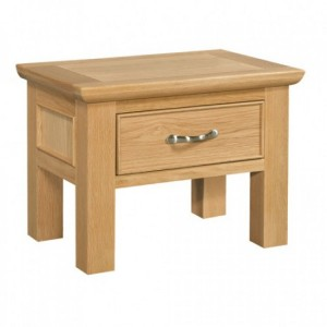 Devonshire Siena Oak Furniture Side Table With Drawer
