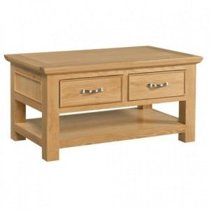 Devonshire Siena Oak Furniture Coffee Table With 2 Drawers