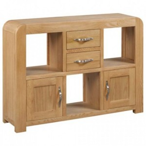 Devonshire Verona Oak Furniture Low Display Unit With 2 Doors
