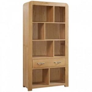 Devonshire Verona Oak Furniture Tall Shelf Unit With Drawer
