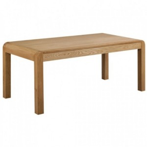 Devonshire Verona Oak Furniture End Extension Dining Table 180cm