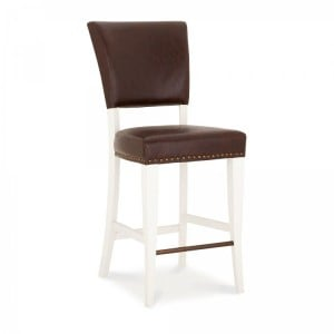 Bentley Designs Belgrave Furniture Espresso Upholstered Bar Stool x 2