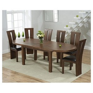 Cheyenne Oval Dark Oak Extending Table & Arizona Chair Set