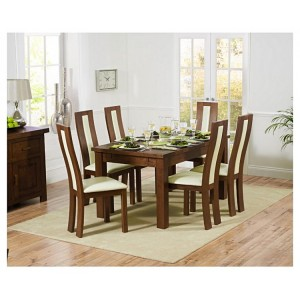 Rustique Dark Oak 150cm Extending Table & Havana Chair Set