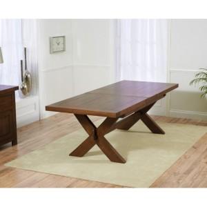 Avignon Dark Oak Furniture 200cm Extending Dining Table