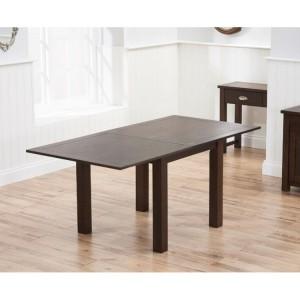 Sandringham Dark Oak Furniture 90cm Flip Top Dining Table