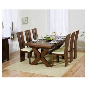 Avignon Dark Oak Extending Dining Table 200-240cm & Arizona Set