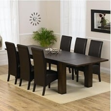 Extending Dark Wood Dining Sets