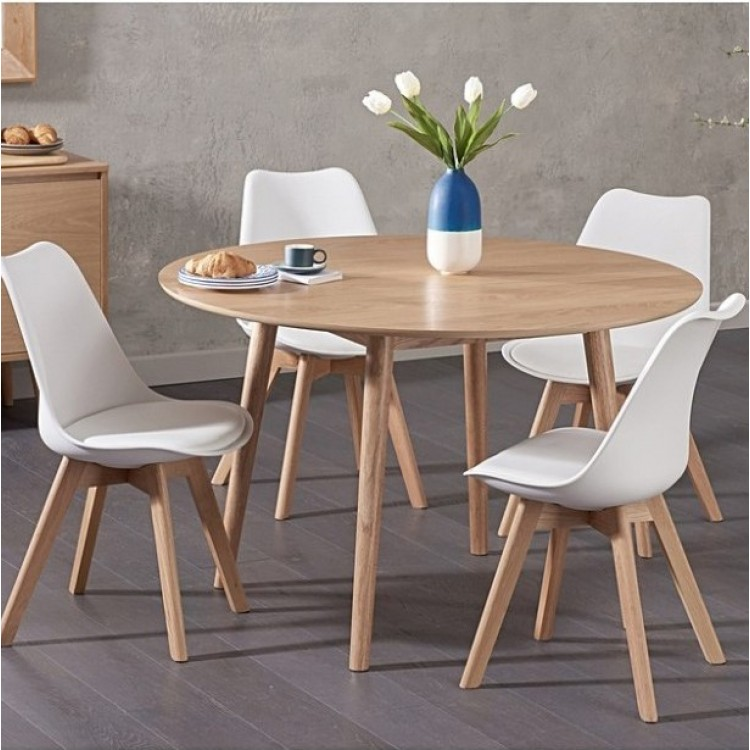 Oval & Round Oak Dining Sets