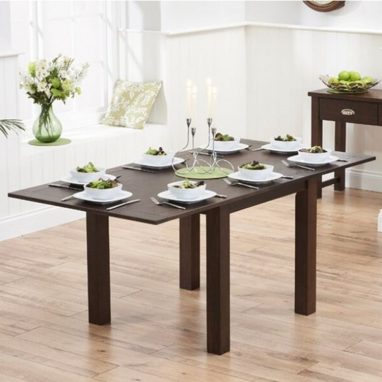 Extending Dark Wood Dining Tables