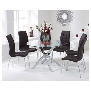 Daytona 110cm Glass Table with 4 Chairs