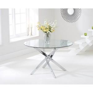 Daytona 120cm Round Glass Dining Table