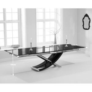 Hanover 210cm Glass Furniture Extending Dining Table
