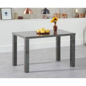 Ava High Gloss Furniture 120cm Dark Grey Dining Table