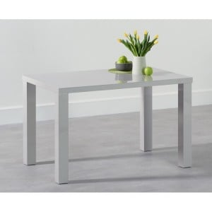 Ava High Gloss Furniture 120cm Light Grey Dining Table