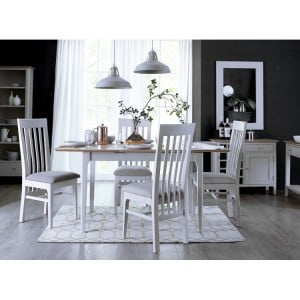 Manor House Stone Grey 1.2m Extending Table & Chairs Set