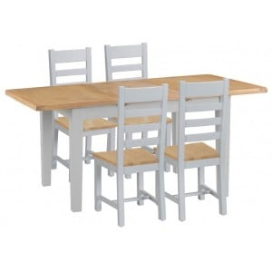 Tenby Grey Painted 1.2m Extending Table & Chairs Set