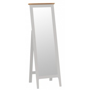 Manor House Stone Grey Painted Furniture Cheval Mirror