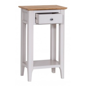 Manor House Stone Grey Painted Furniture Telephone Table