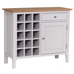 Manor House Stone Grey Painted Furniture Wine Cabinet