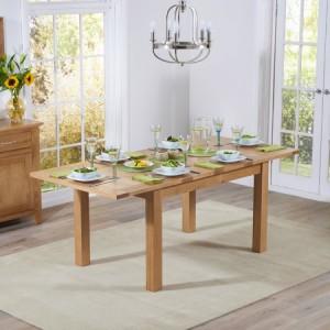 Cambridge Oak Furniture Large Extending Dining Table 130-200cm