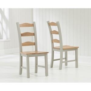 Sandringham Oak & Grey Painted Dining Chair (Pair)
