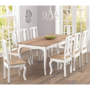 Sienna Ivory Painted Furniture 175cm Table & Chairs Set