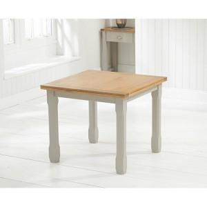 Sandringham Oak & Grey Painted Furniture Flip Top Dining Table 90cm