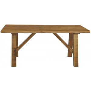Fairford Rustic Furniture Large Fixed Top 180cm Dining Table
