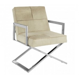 Kensington Townhouse Genuine Leather and Stainless Steel Chair