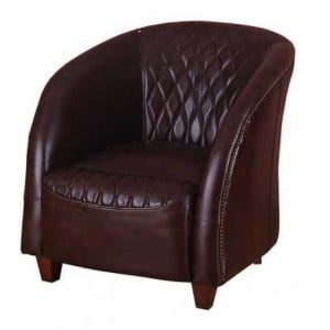 Vintage Aviator Range Leather Arm Chair with Quilted Panels