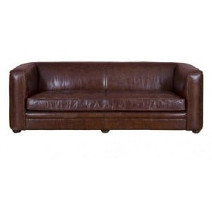 Vintage Aviator Range Rich Brown 3 Seater Leather Sofa