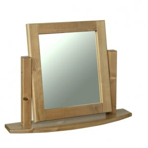 Devonshire Torridge Pine Furniture Chunky Single Mirror