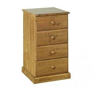 Devonshire Torridge Pine Furniture 4 Drawer Bedside