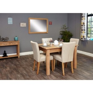 Mobel Oak Furniture Four Seater Dining Table & Chair Set