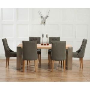 Knightsbridge Oak & Metal Dining Table & Pailin Chairs 180-270cm