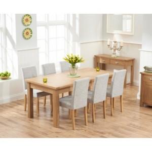 Sandringham Oak Extending Dining Table & 6 Maiya Chairs 180-270cm