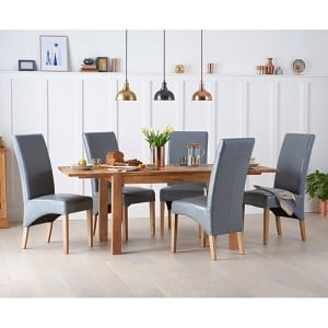 Verona Oak Extending Dining Table 150cm & Roma Chairs Set