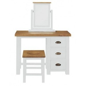 Fairford White Painted Furniture 3 Drawer Dressing Table