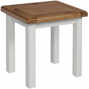 Fairford White Painted Furniture Stool With Wooden Seat