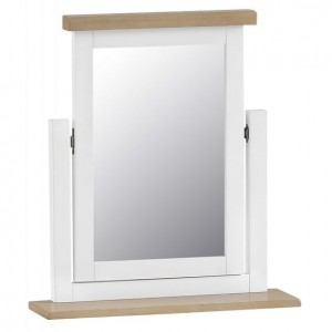Fairford White Painted Furniture Swivel Mirror