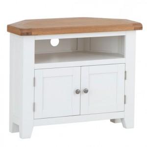 Fairford White Painted Furniture Corner TV Unit