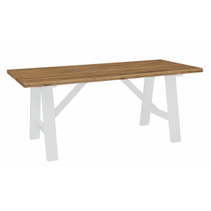 Fairford White Painted Furniture Large Trestle Table