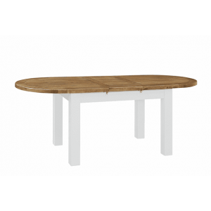 Fairford White Painted Furniture Oval Extending Table