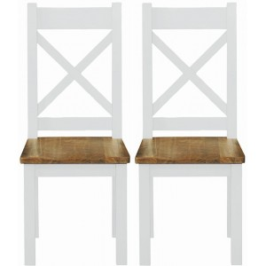 Fairford White Painted Furniture Dining Chair Wooden Seat